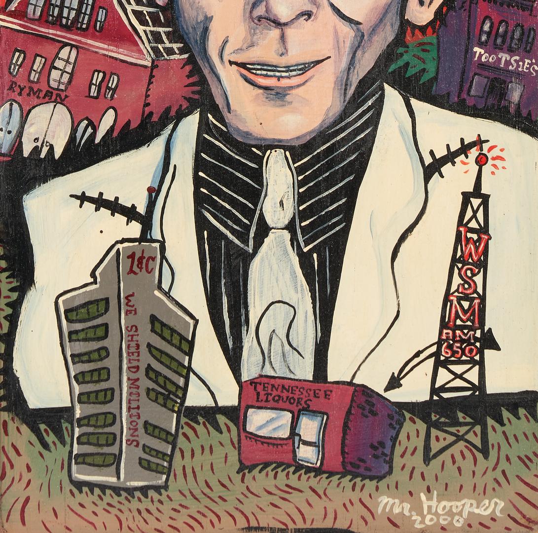 Lot 1043: Mr. Hooper Outsider Art Portrait of Hank Williams
