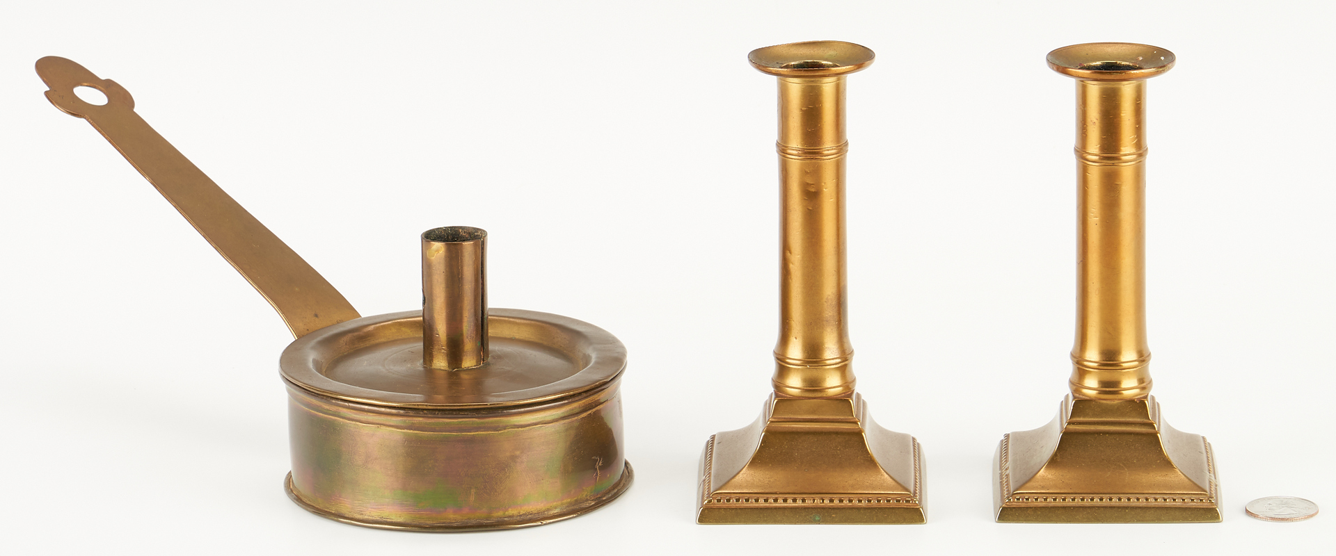 Lot 1045: 16 pcs Early Lighting / Hearth Items incl. Betty Lamps, Charles Davis Collection