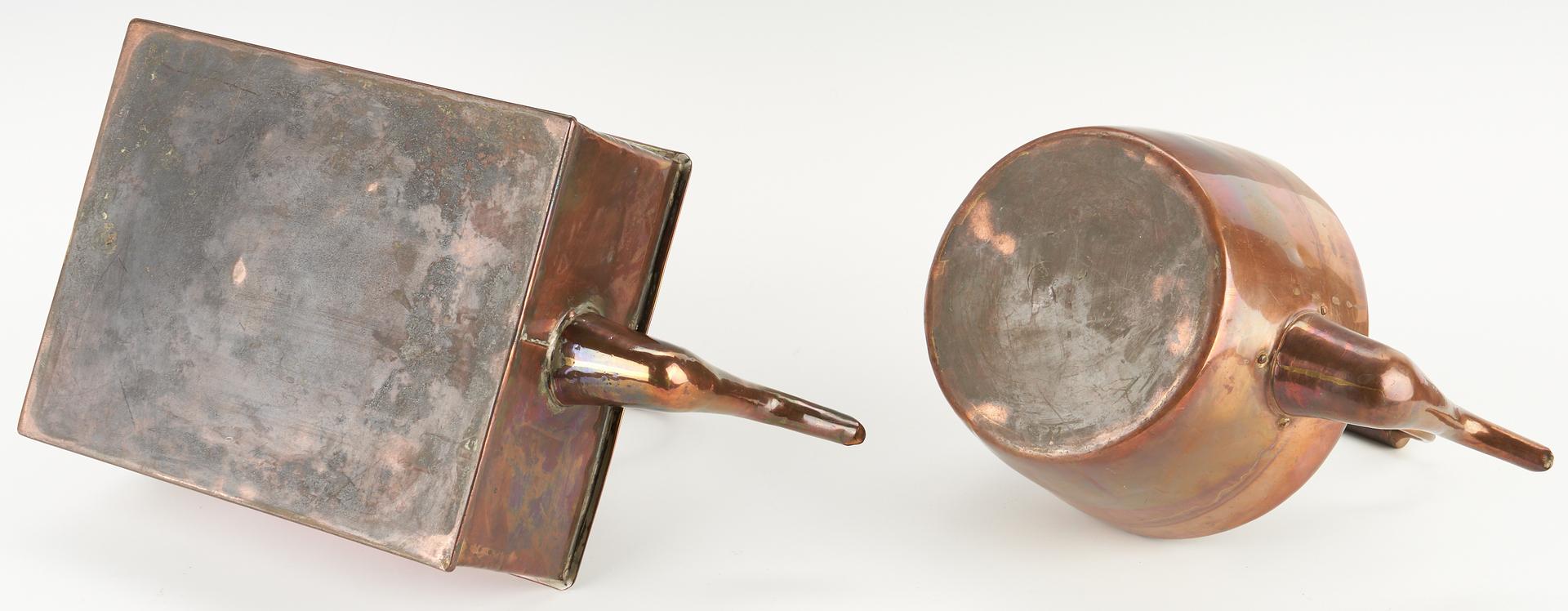 Lot 1046: 2 Copper Kettles & Stands, Charles K. Davis Collection