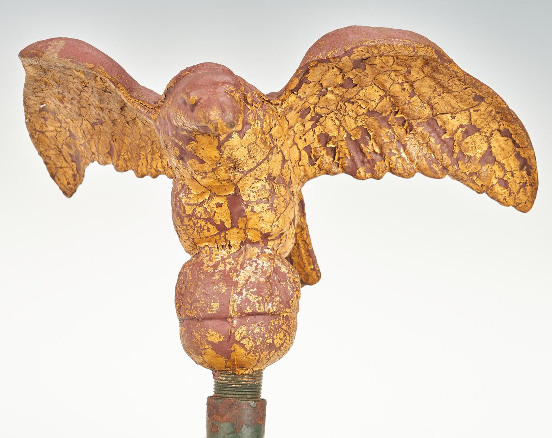 Lot 1048: 2 Ornamental Cast Iron Eagle Folk Art Items