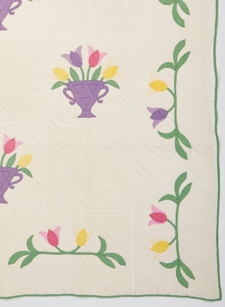 Lot 1051: Tulip Basket Pattern Quilt,  Anne Orr Studio Design