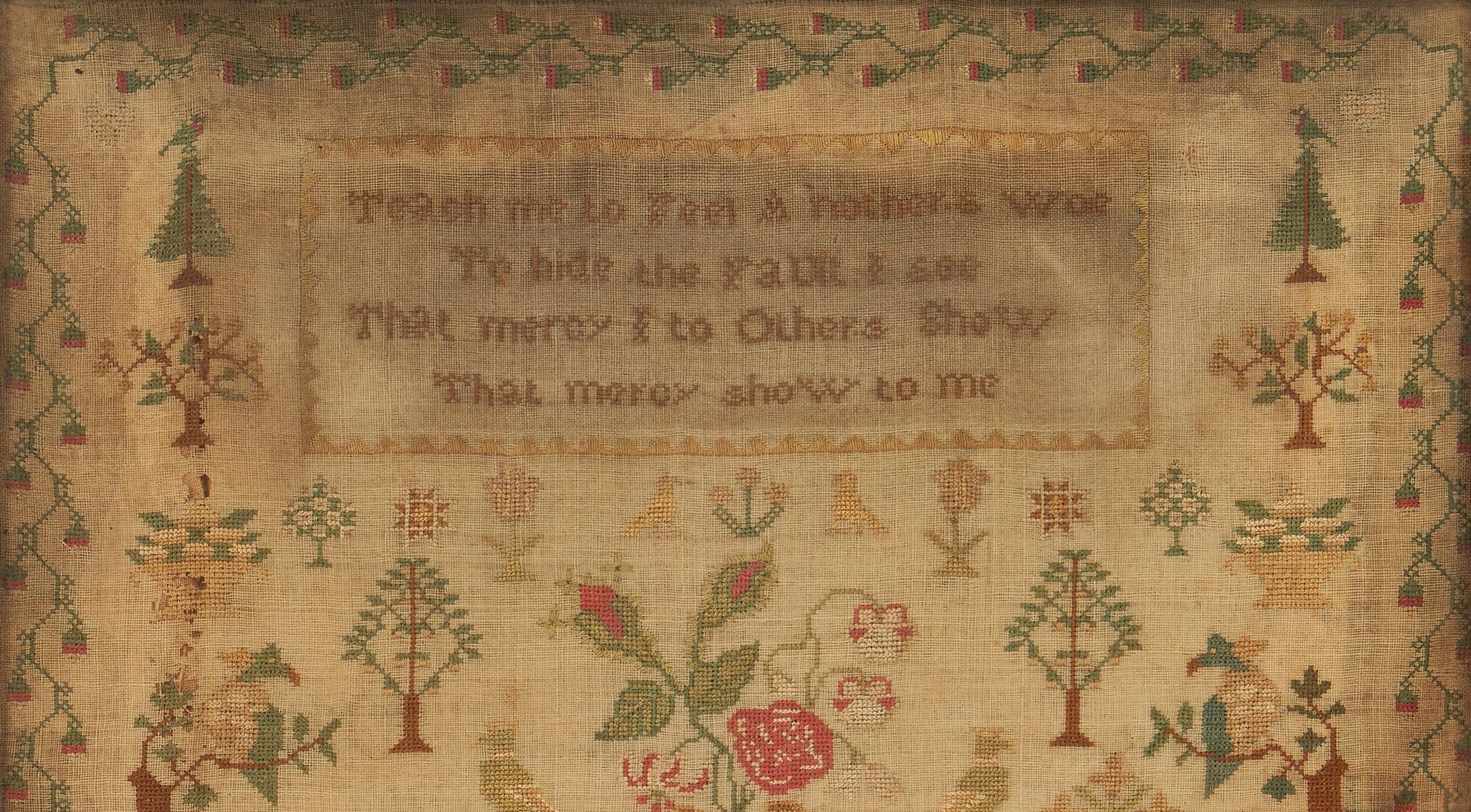 Lot 1059: 1824 House Sampler, Caroline Hayward