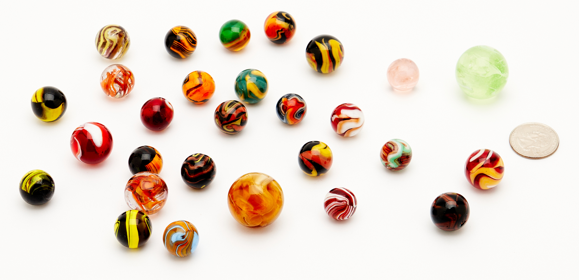 Lot 1064: 28 Marbles, Possibly Christensen Agate Company