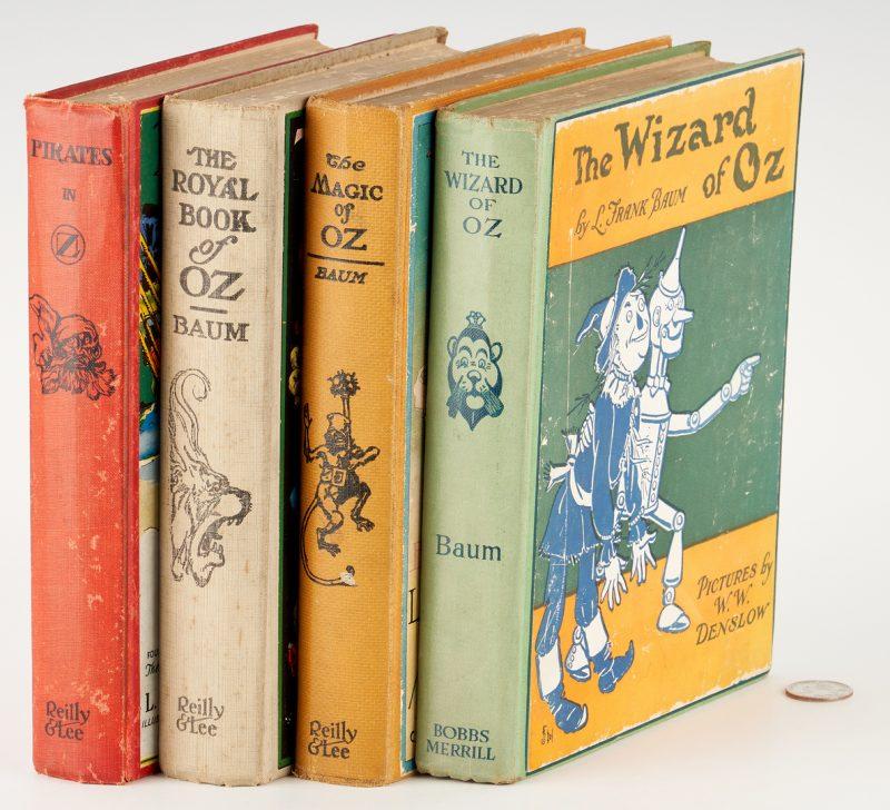 Lot 1065: Frank Baum, 4 Wizard of Oz Books