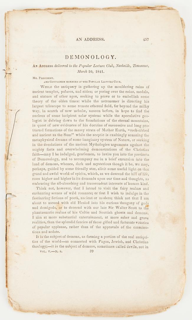 Lot 1066: 19th C. Occult & Dream Publications, incl. Nashville imprints, 5 items
