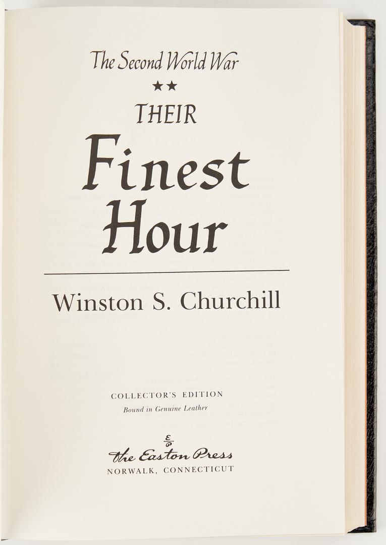 Lot 1069: Churchill, THE SECOND WORLD WAR, 6 Vols., 1989