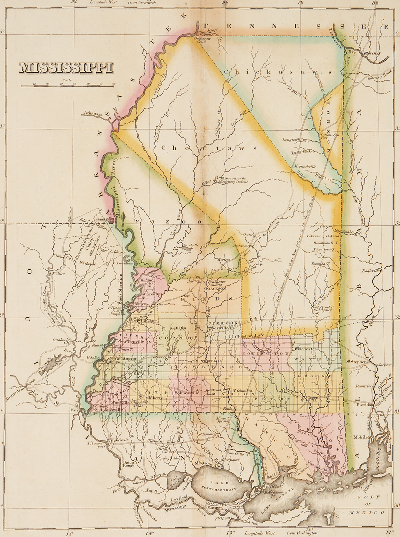 Lot 1074: 2 Mississippi Related Maps, Native American interest