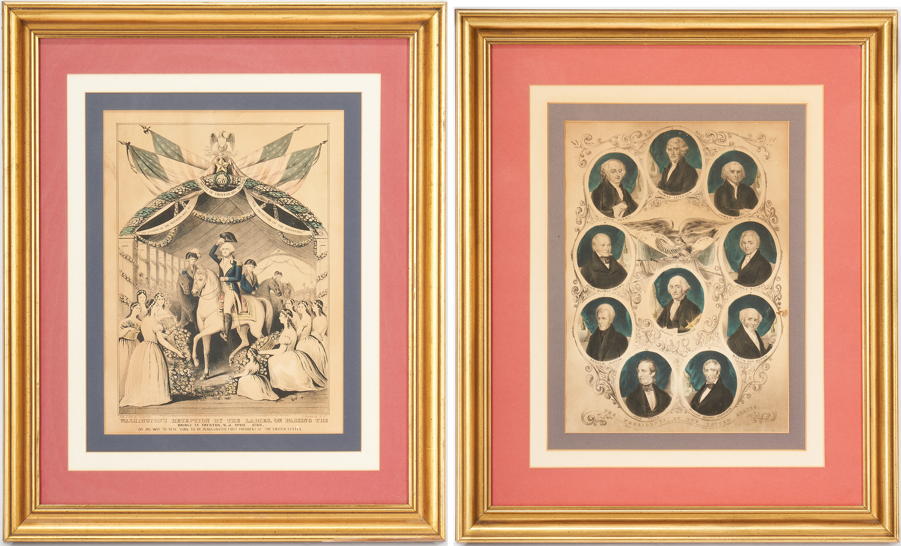Lot 1077: 2 Currier & Ives Presidential prints