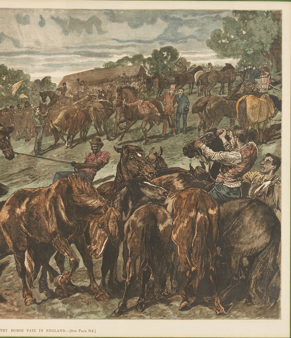 Lot 1078: 4 Animal Prints, incl. Currier and Ives, Cares of a Family