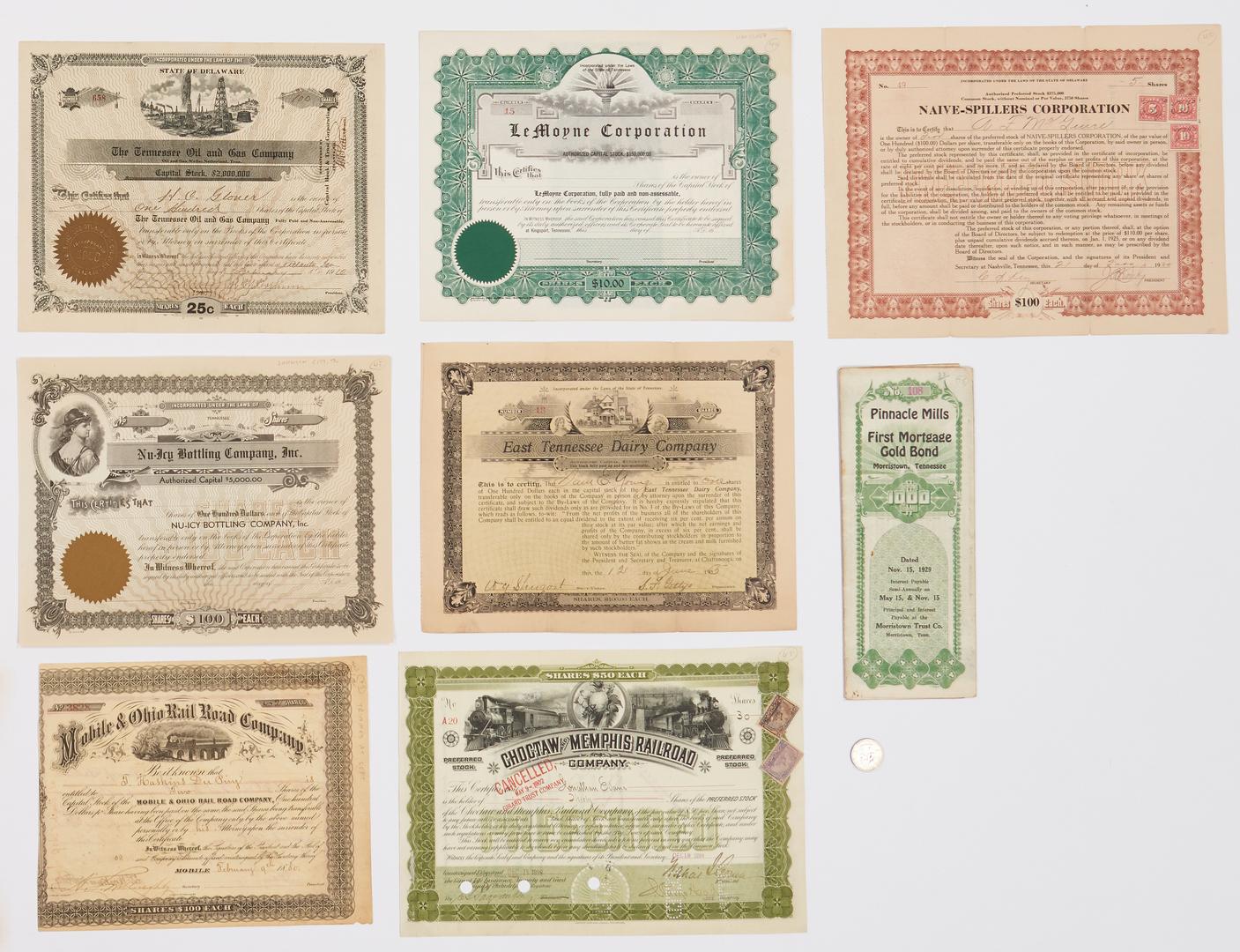 Lot 1079: 17 TN Related Bonds, incl. Railroad
