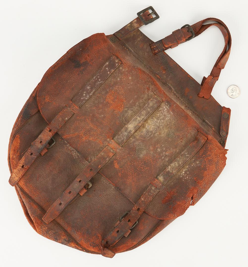 Lot 1081: US Union Civil War Leather Haversack