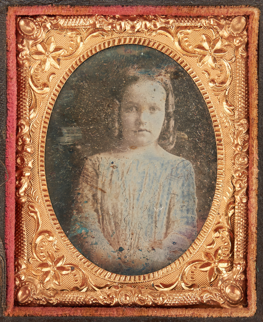 Lot 1082: Early photographs incl. Gold Plate Framed Double Daguerreotype