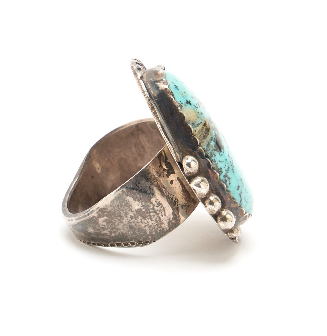 Lot 1083: 4 Pcs. Native American Navajo Turquoise & Silver Jewelry