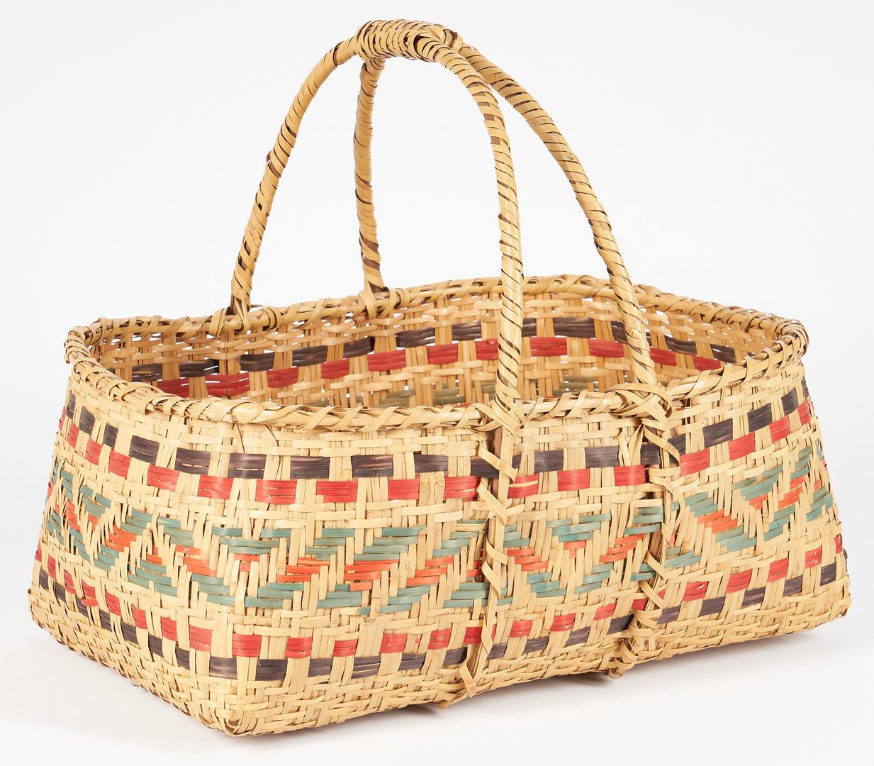 Lot 1100: 2 Native American Choctaw Rivercane Baskets