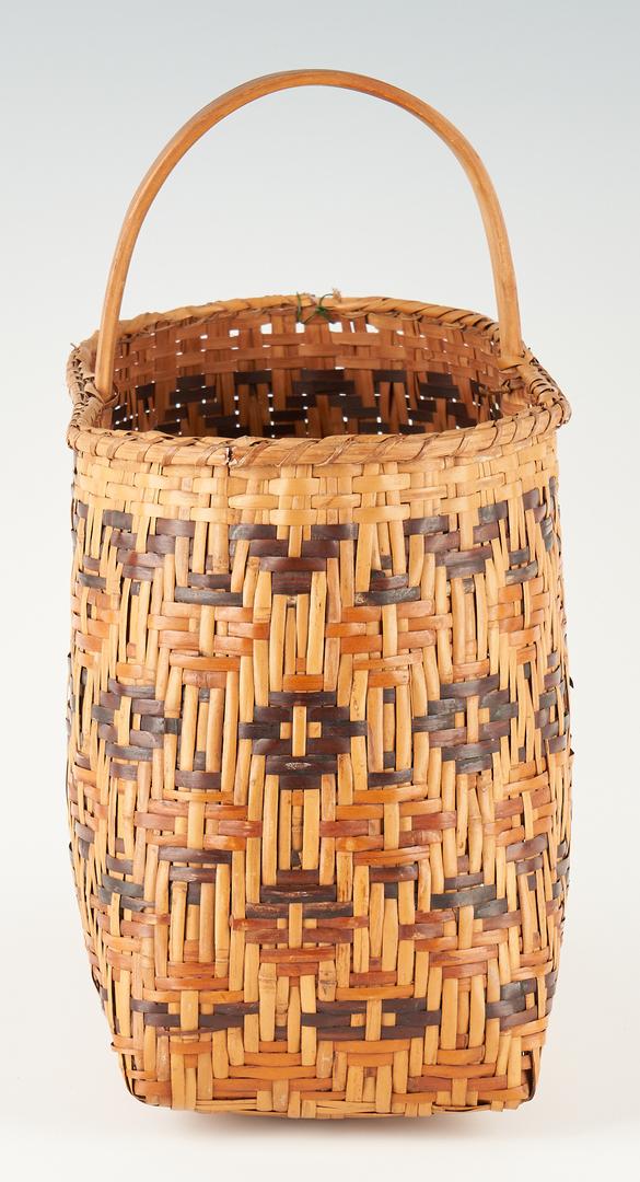 Lot 1103: Native American Cherokee Rivercane Basket