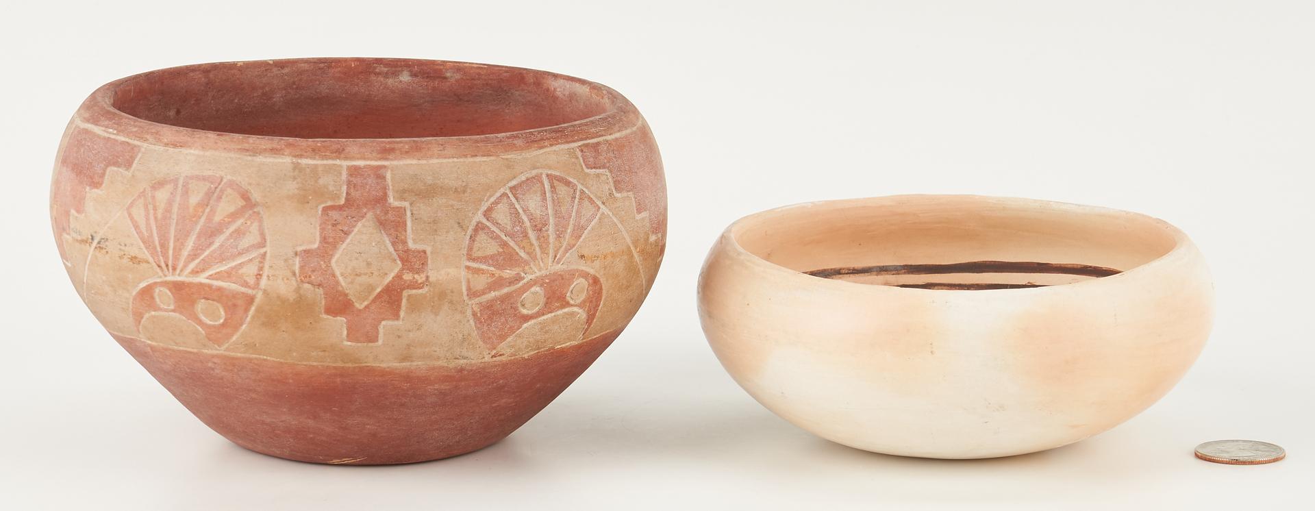 Lot 1107: 2 Native American Southwest Pottery Bowls