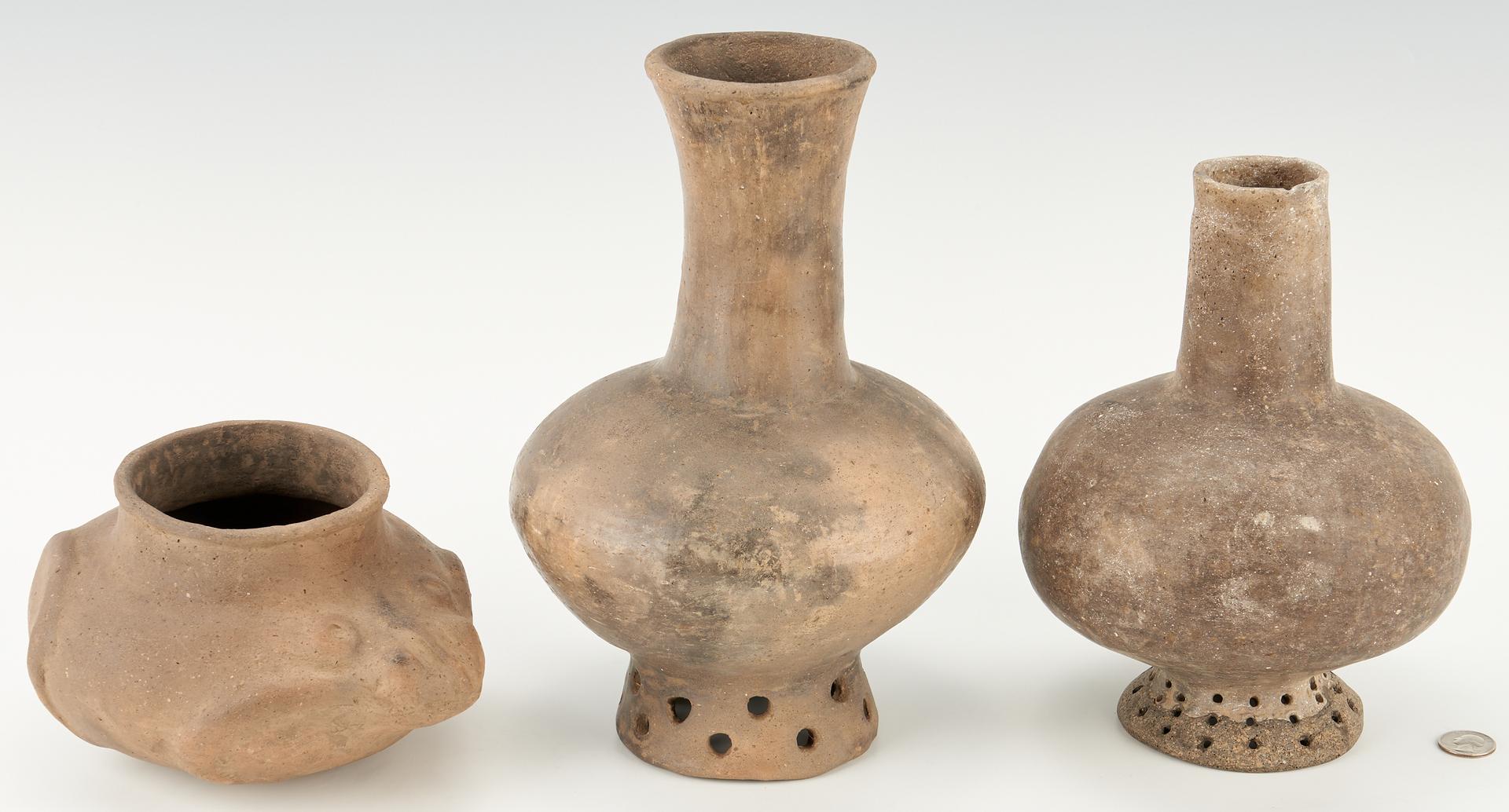 Lot 1108: 3 Mississippian Culture Pottery Pieces