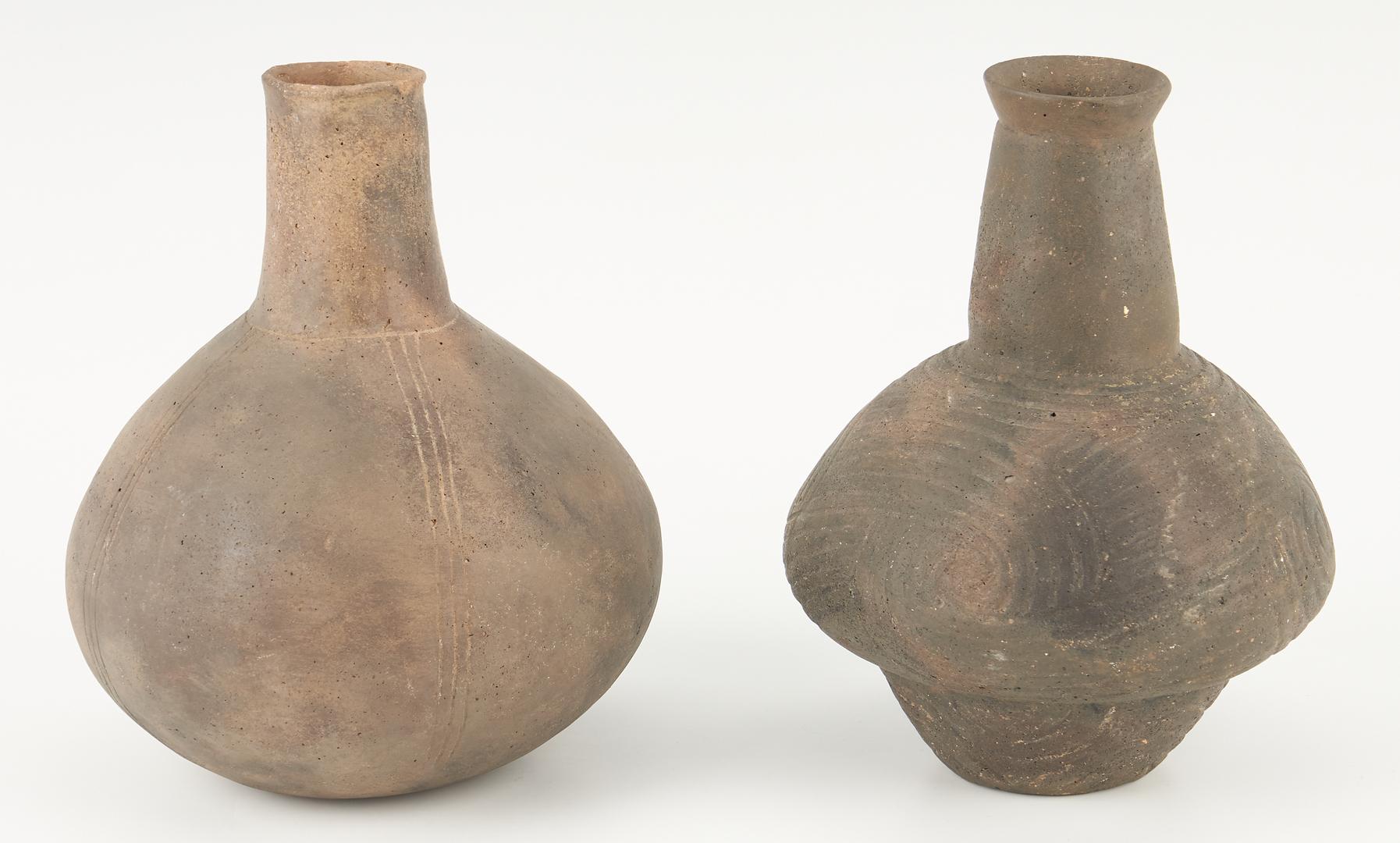 Lot 1110: 2 Mississippian Culture Caddo Water Bottles