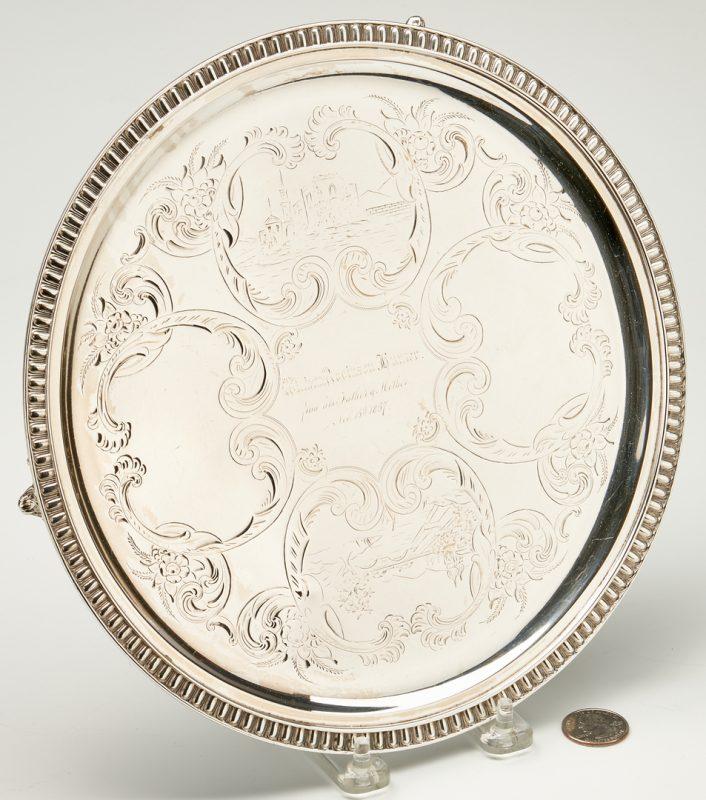 Lot 111: Kentucky Coin Silver Tray, Hinton