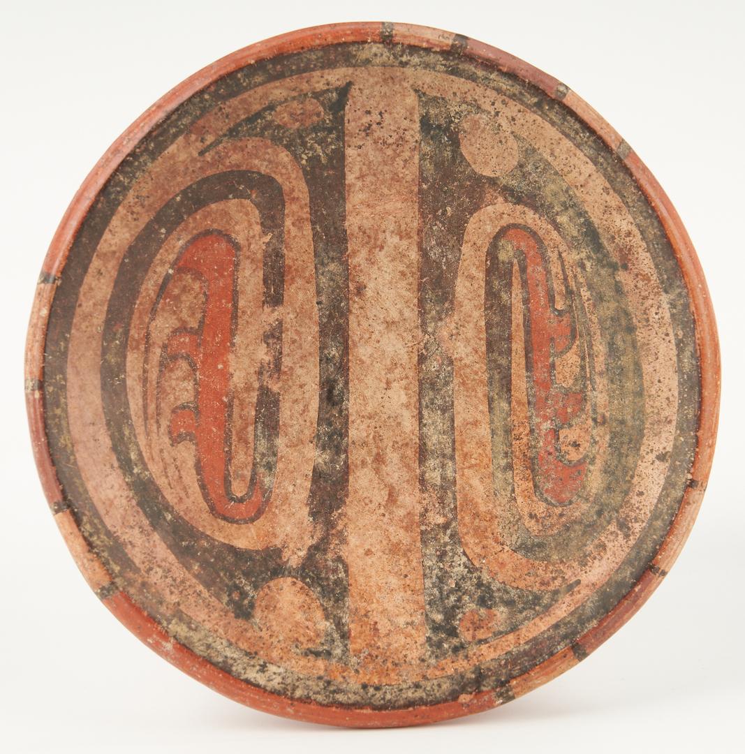 Lot 1121: Five (5) Pre-Columbian Polychrome Panamanian Cocle Pottery Vessels