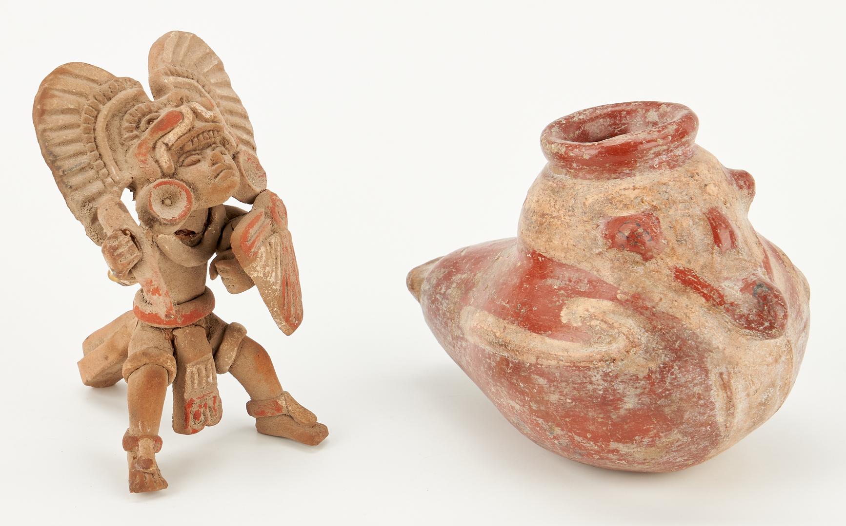 Lot 1124: 10 Pre-Columbian Nicoya, Costa Rica Pottery Items