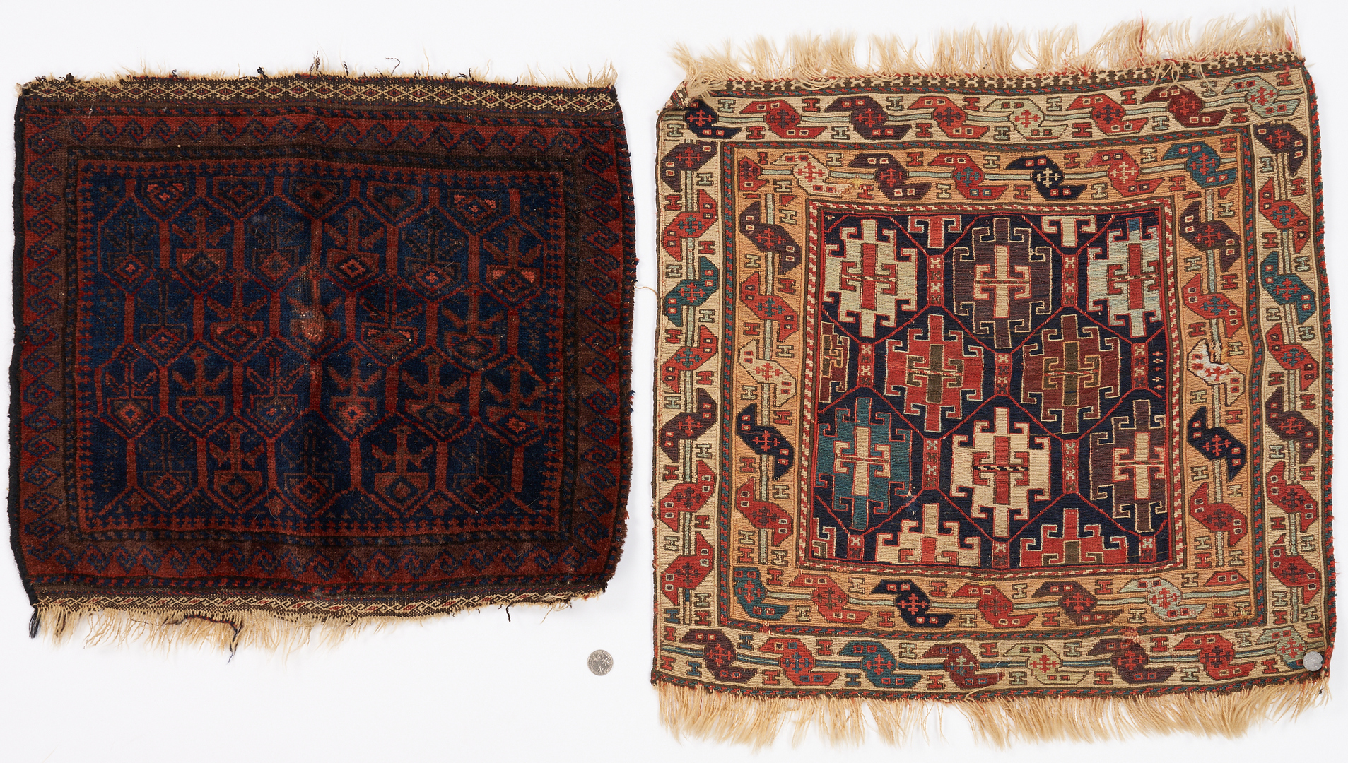 Lot 1128: Soumak Bag Face & Baluchi Bag Face, 2 items