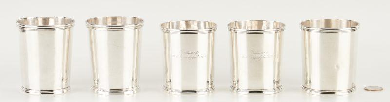 Lot 112: 5 KY Coin Silver Julep Cups, Garner & Winchester, Lexington