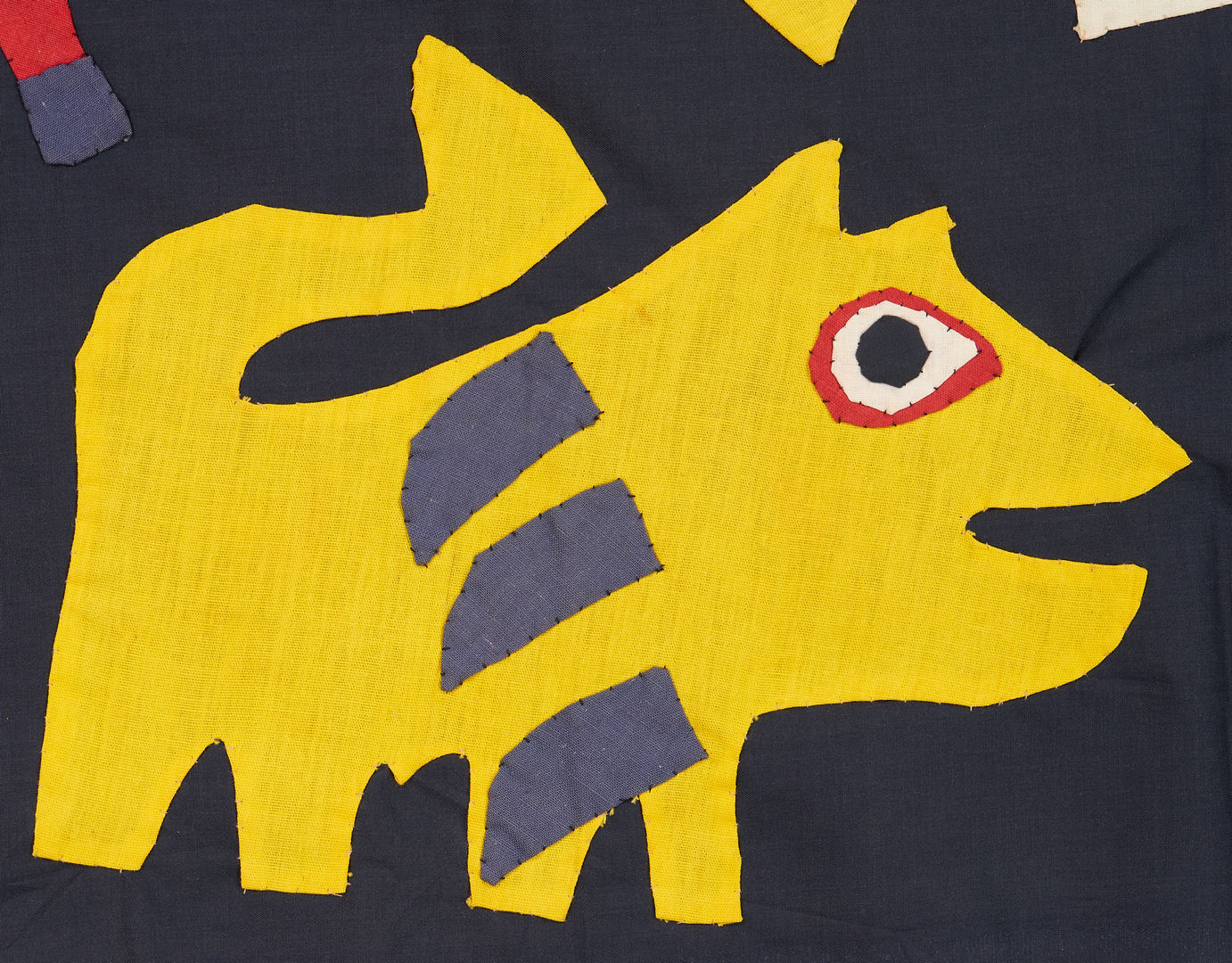 Lot 1132: Manner of Karel Appel Tapestry, Abstract Animals
