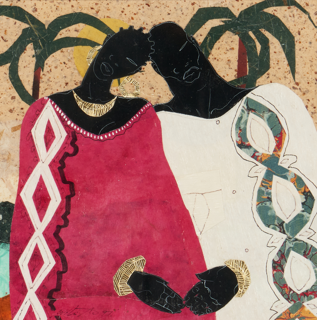 Lot 1133: Willie Torbert Collage, Man and Woman