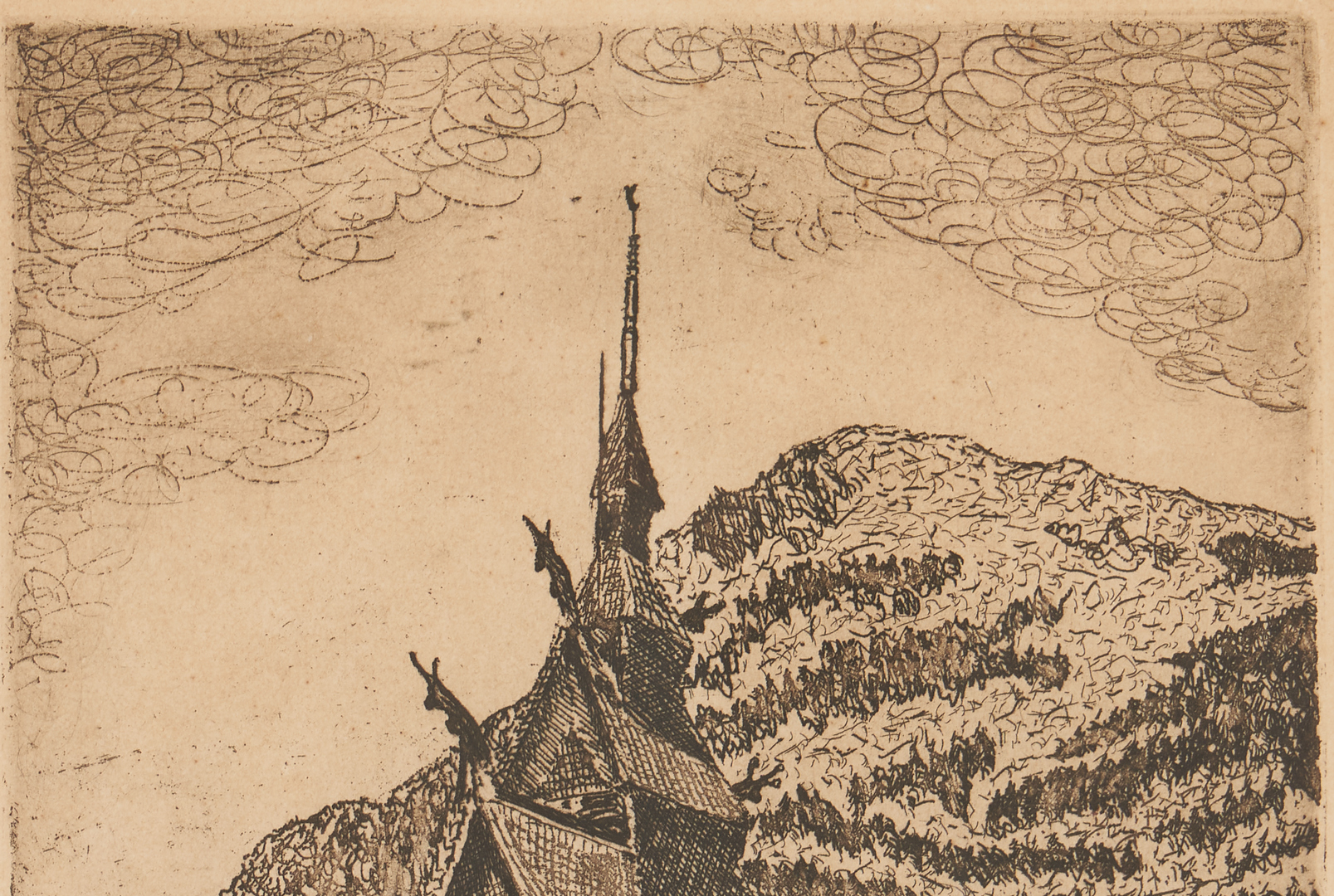 Lot 1135: 2 Raphael Soyer Prints & 2 European School Engravings, 4 items