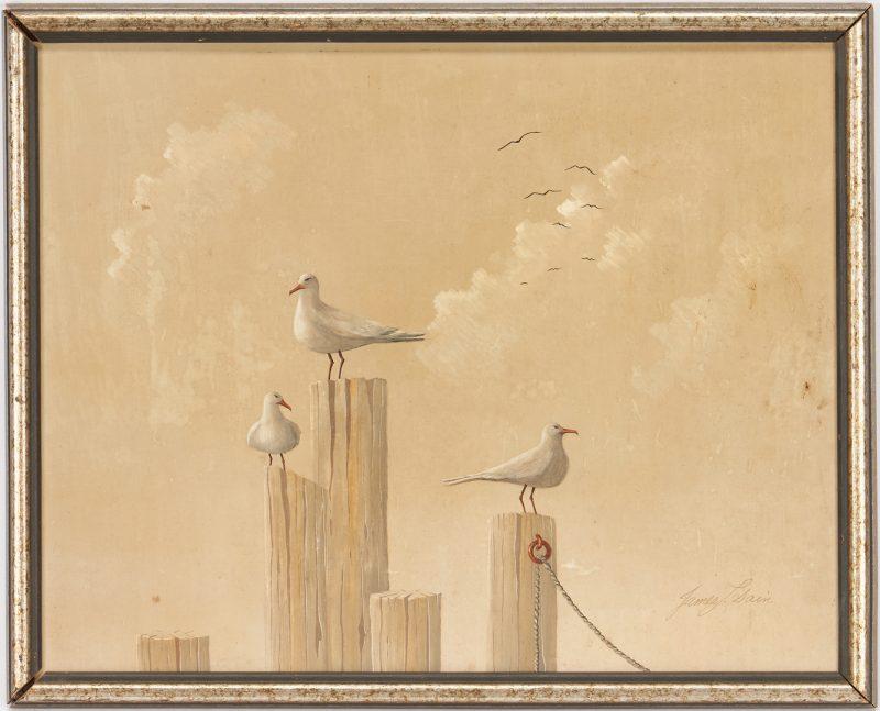 Lot 1137: James Sain O/B, Seagull Painting