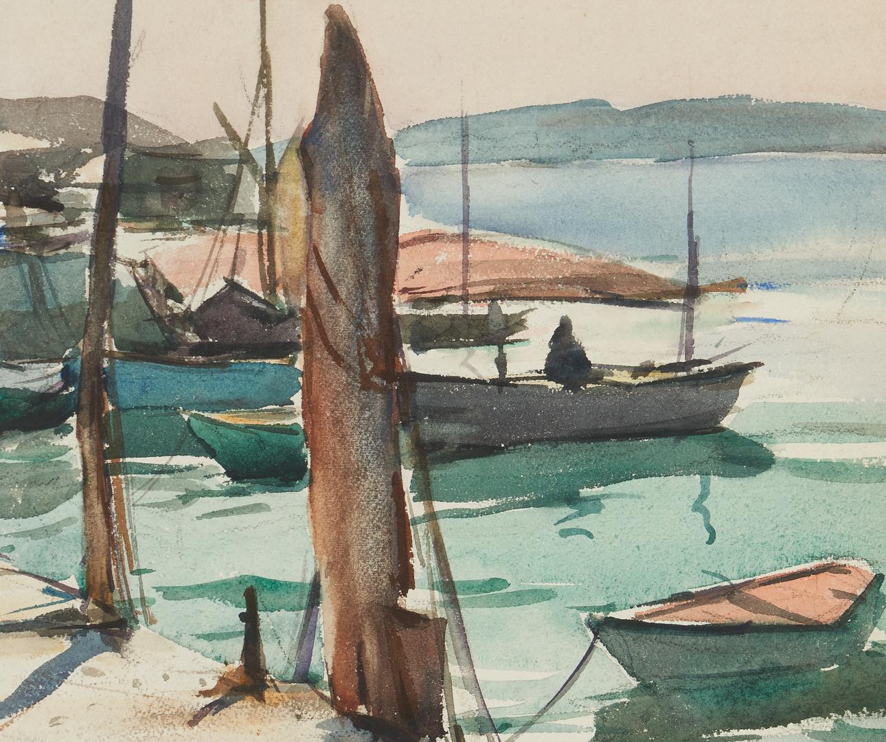 Lot 1139: 2 Maritime Paintings, incl. Carl Peters W/C & Albert Bern O/C