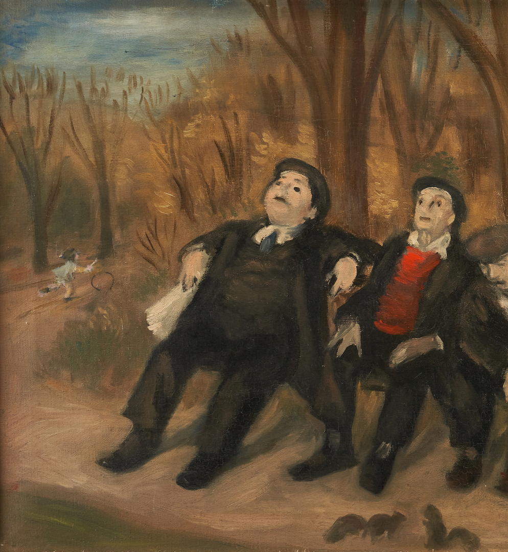 Lot 1141: Robert Philipp O/C Painting, Spring