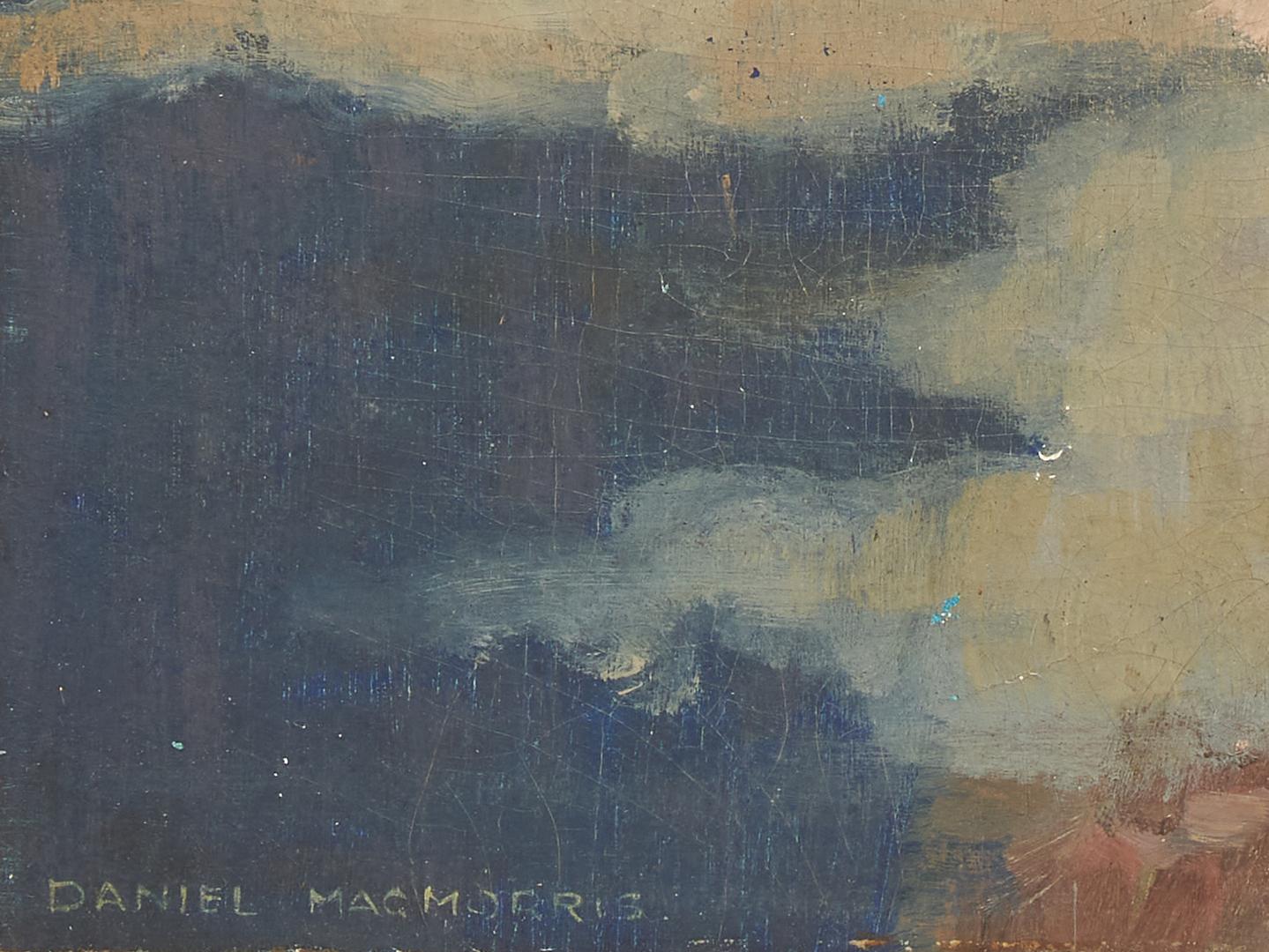 Lot 1144: Daniel MacMorris O/B Painting, Allegorical Depiction of Desire