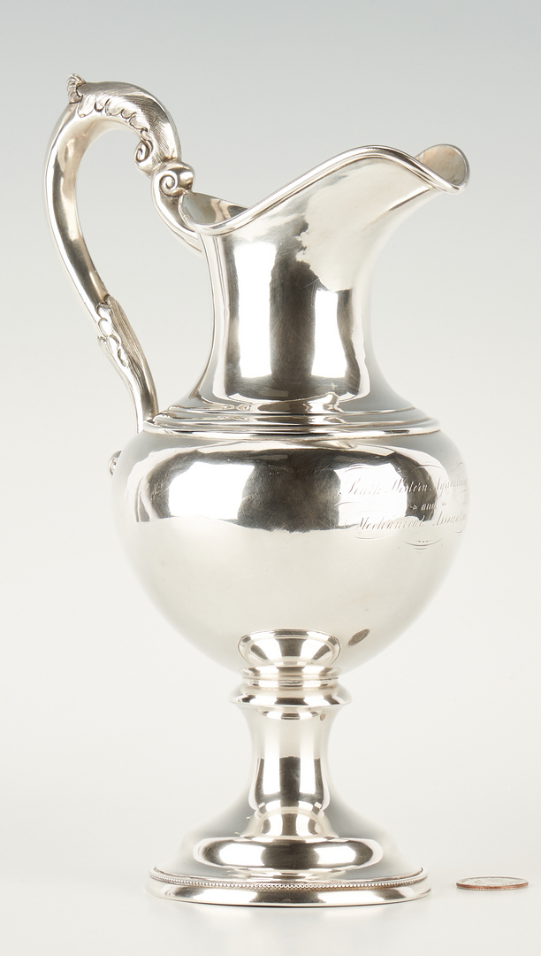 Lot 114: Kitts KY Agricultural Coin Silver Pitcher