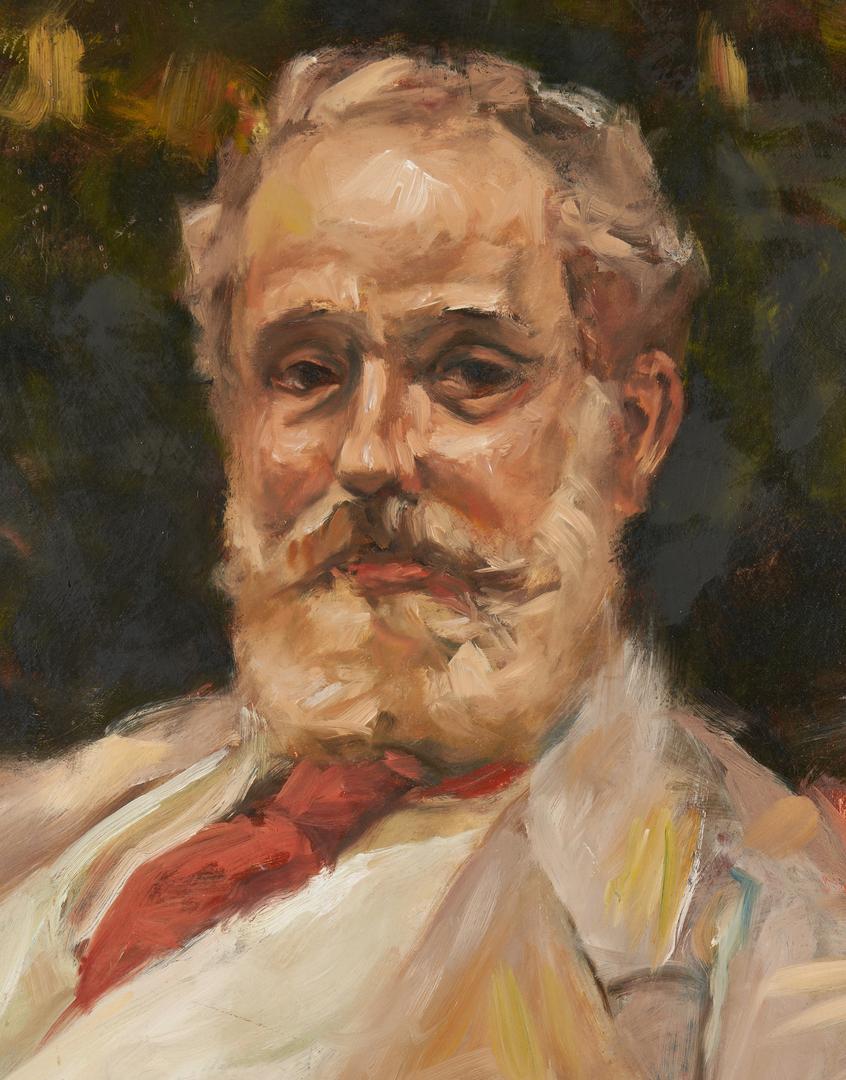 Lot 1155: O/C Portrait of an Elderly Bearded Man