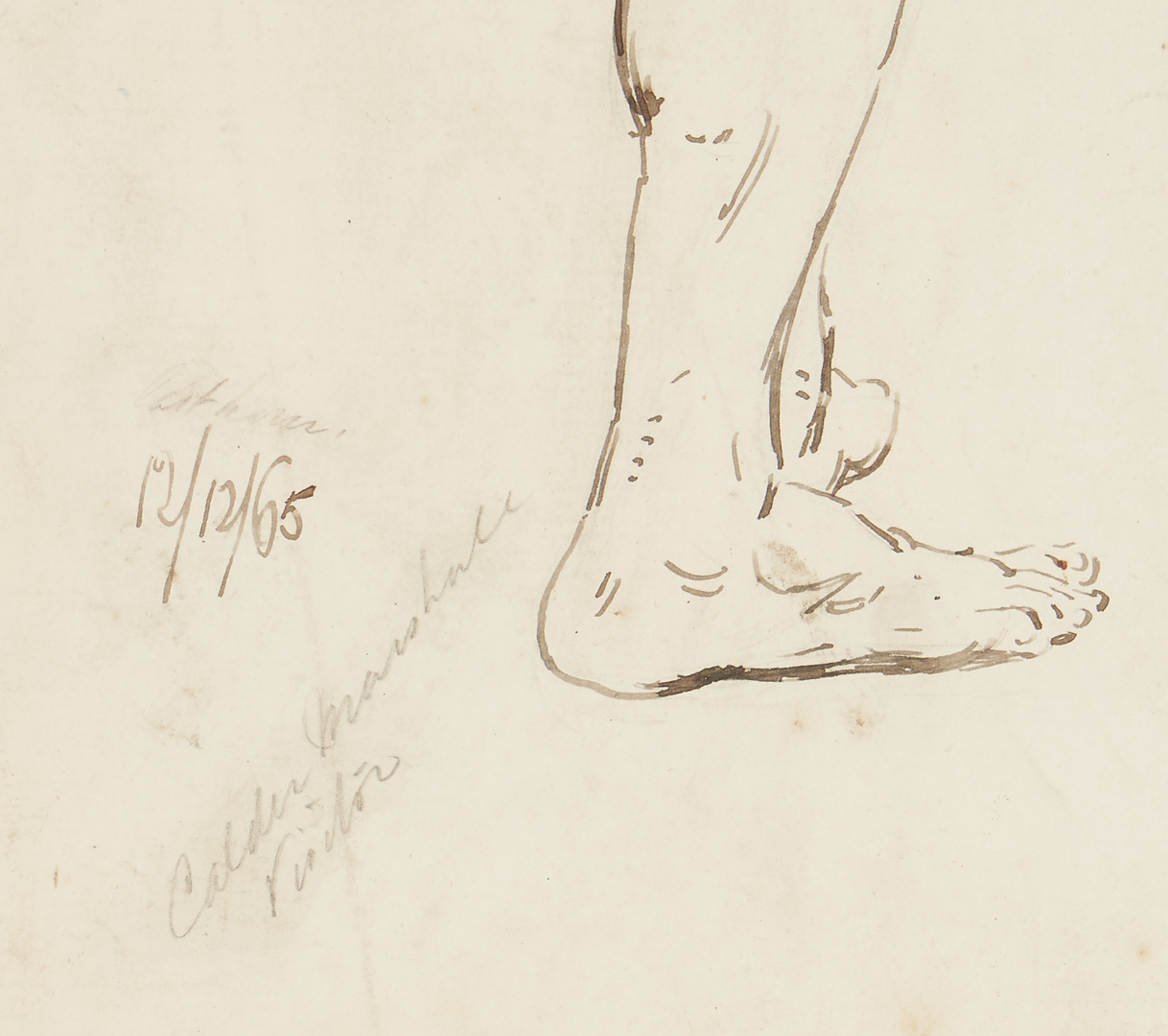 Lot 1159: 2 Thomas Ballard Nude Ink Drawings