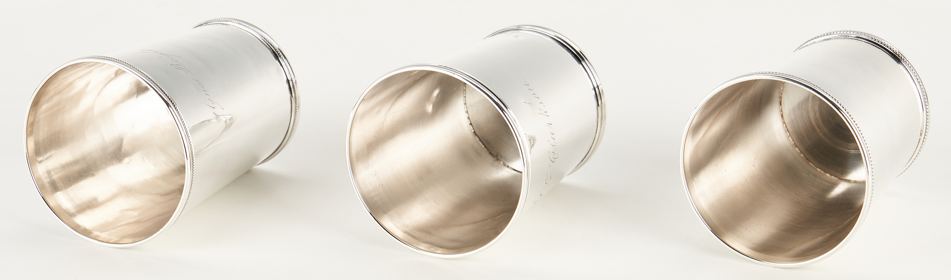 Lot 115: 3 KY Coin Silver Julep Cups, G. Sharp, Danville