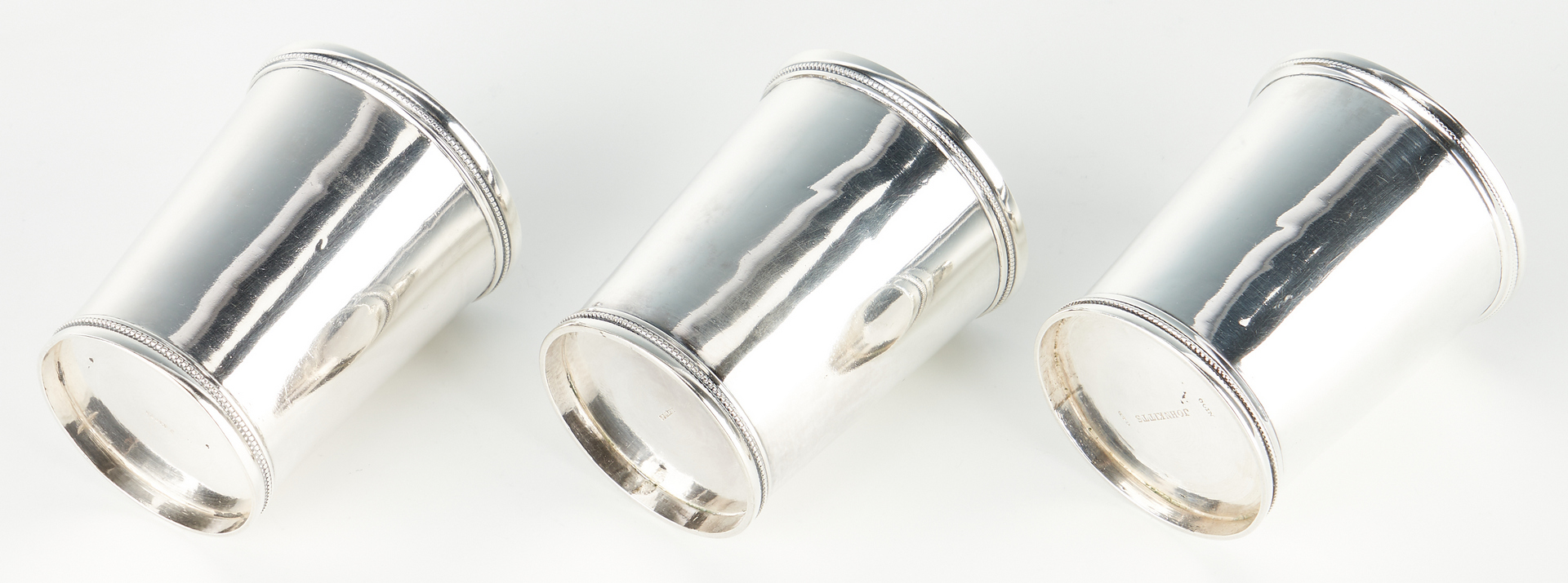 Lot 116: 3 Kitts Agricultural Premium Mint Julep cups, Mallory