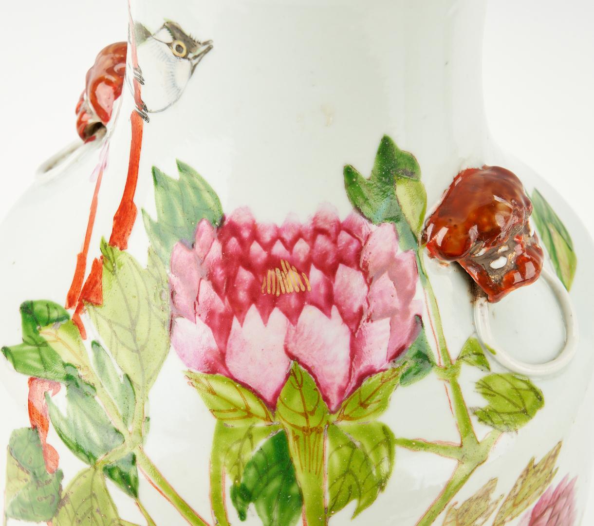 Lot 1171: Chinese Famille Rose Porcelain Vase and Jar