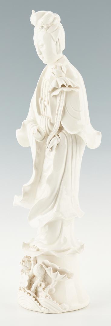 Lot 1172: Large Chinese Porcelain Guanyin Figure & Minton Asian Form Vase, 2 items