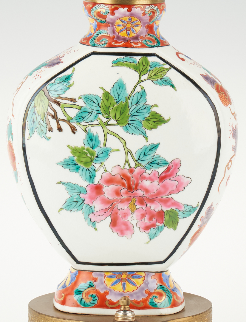 Lot 1173: 2 Asian Porcelain Vases Converted into Lamps