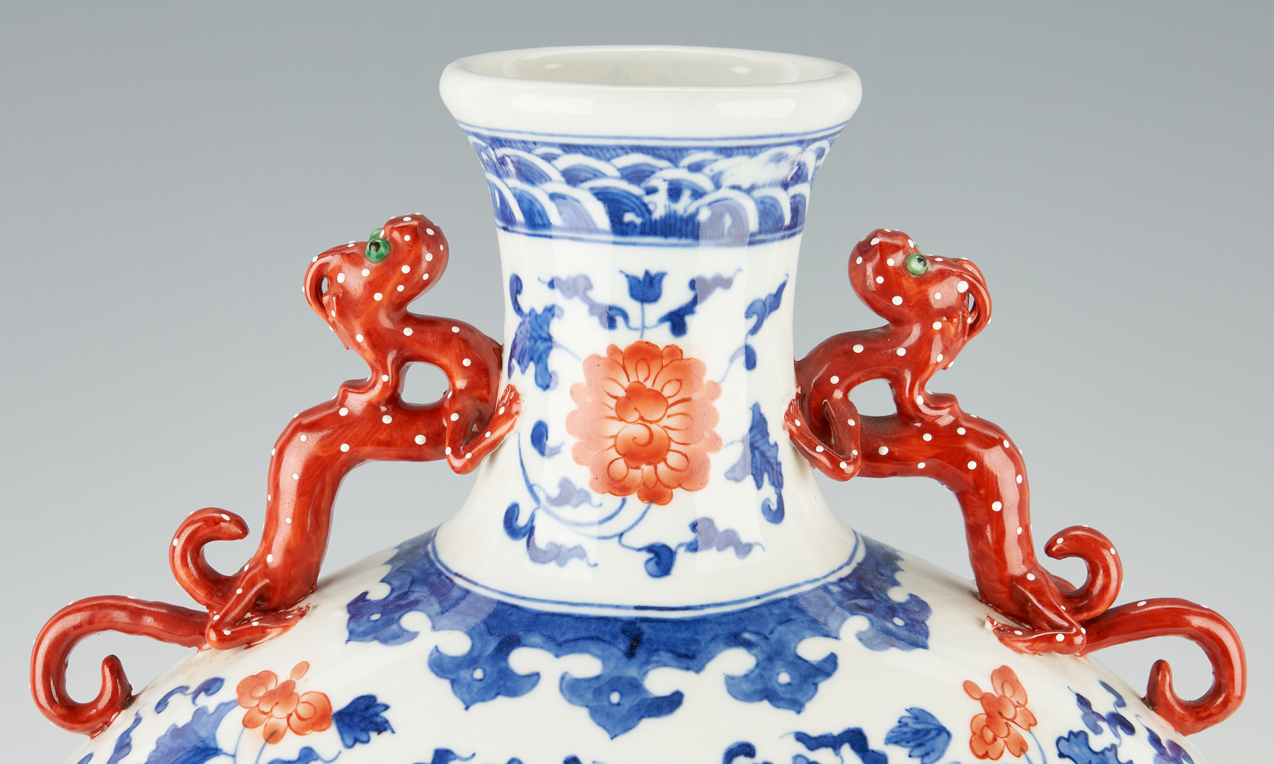 Lot 1176: Chinese Porcelain Moon Flask, Cong Vase, and Rose Medallion Plate