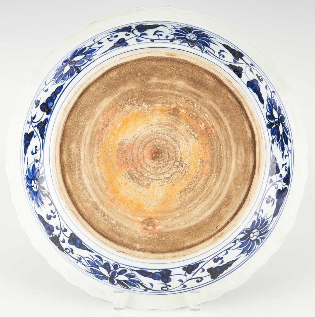 Lot 1178: Chinese Blue and White Mandarin Duck Dish