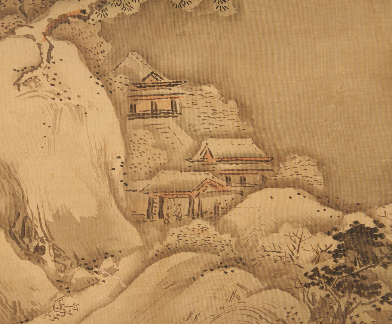 Lot 1182: 2 Asian Paintings on Silk
