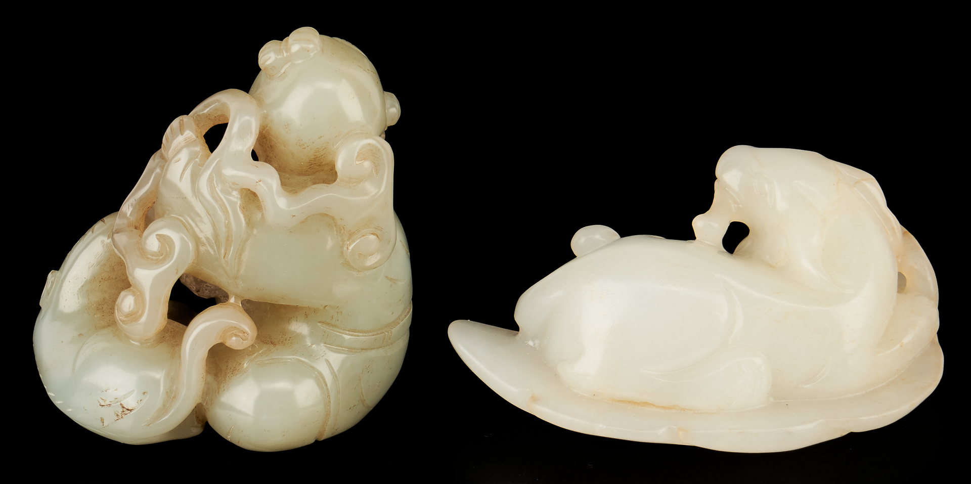 Lot 1189: 6 Chinese Carved Jade Items
