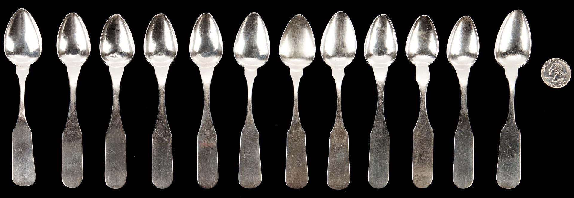 Lot 118: 12 Asa Blanchard KY Coin Silver Teaspoons