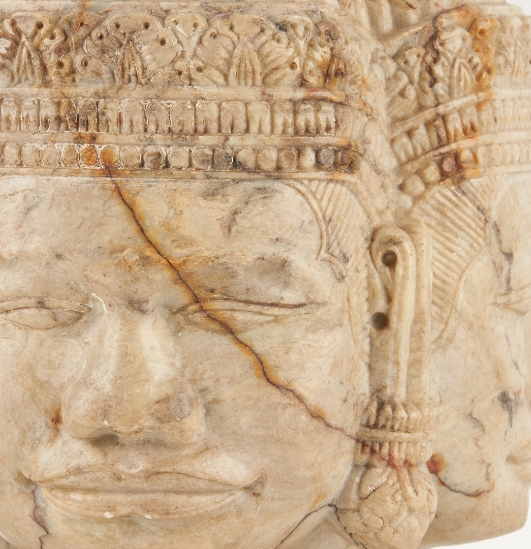 Lot 1195: Southeast Asian Carved Hardstone Head