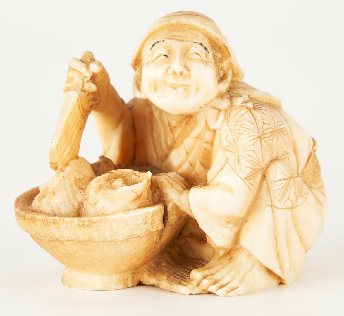 Lot 1196: 6 Japanese Carved Okimono Figures