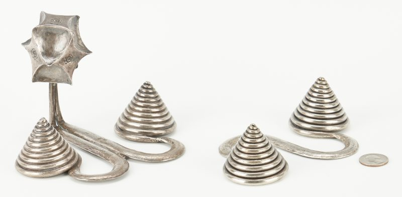 Lot 1202: 2 Silver Chinese Tribal Apron Counter Weights